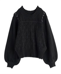 【OUTLET】【Web限定】透かし編みニット