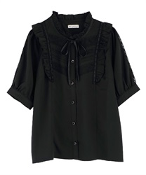 【OUTLET】【Web限定】肩フリルブラウス