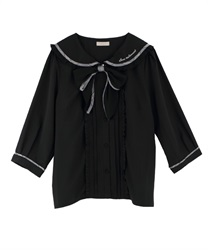 【OUTLET】【Web限定】チェックデザインブラウス