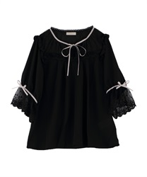【OUTLET】【Web限定】配色リボンフリルブラウス