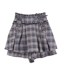【OUTLET】【Web限定】レースアップキュロット
