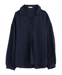 【OUTLET】後ろフリルスキッパーシャツ【Web価格】